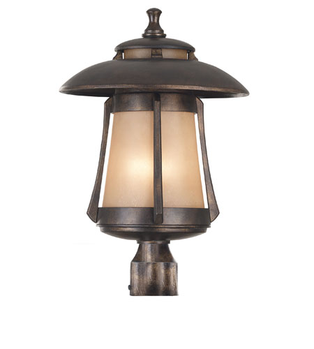 Kenroy Lighting Laguna 3 Light Outdoor Post Lantern in Golden Bronze   03198 photo
