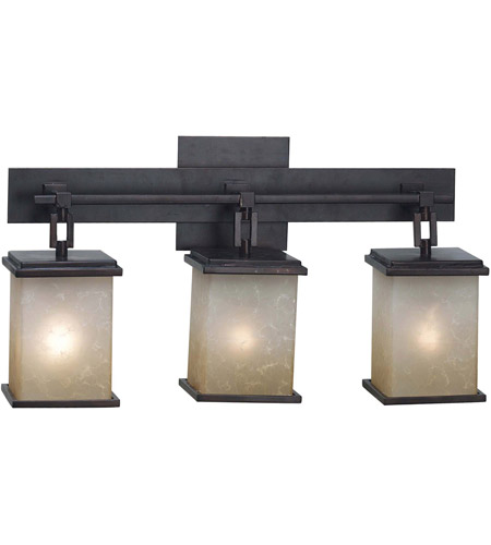 Kenroy Lighting Plateau 3 Light Vanity in Oil Rubbed Bronze   03374 photo