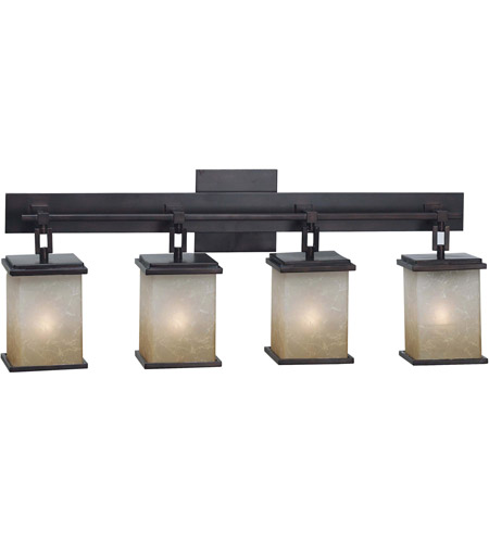 Kenroy Lighting Plateau 4 Light Vanity in Oil Rubbed Bronze   03375 photo