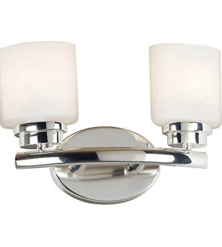 Kenroy Lighting Bow 2 Light Vanity in Polished Nickel   03391 photo