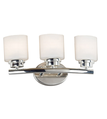Kenroy Lighting 03392 Bow 3 Light 19 inch Polished Nickel Vanity Wall Light photo