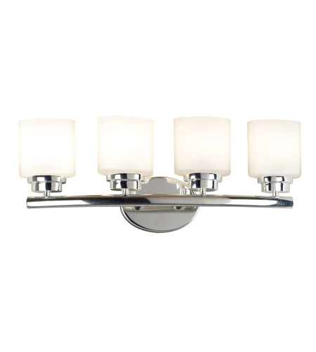 Kenroy Lighting 03393 Bow 4 Light 24 inch Polished Nickel Vanity Wall Light photo