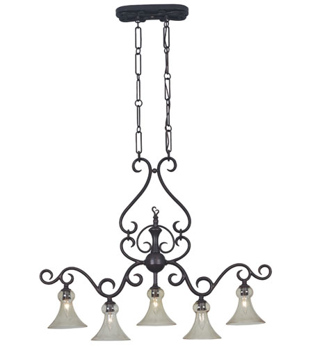 Kenroy Lighting Pienza Golden Bronze Finish Island Lighting 03404 photo