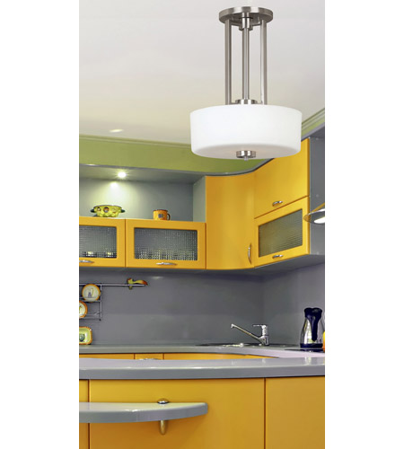 Kenroy Lighting 10180BS Encounters 2 Light 16 inch Brushed Steel Pendant Ceiling Light photo