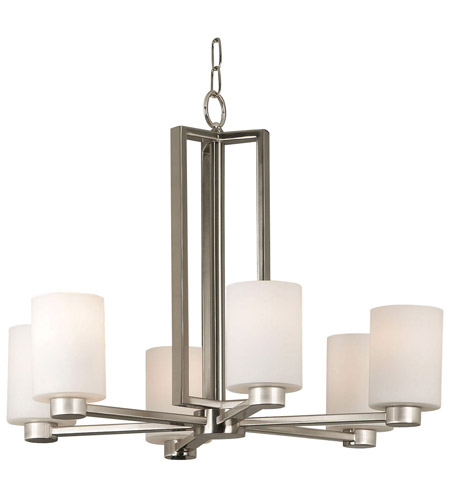 Kenroy Lighting 10186BS Encounters 6 Light 26 inch Brushed Steel Chandelier Ceiling Light photo