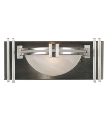 Kenroy Lighting Lumen 1 Light Sconce in Brushed Steel   10370BS photo