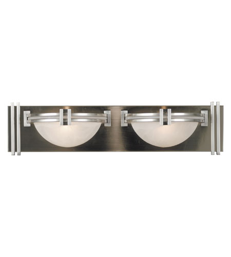 Kenroy Lighting Lumen 2 Light Vanity in Brushed Steel   10371BS photo