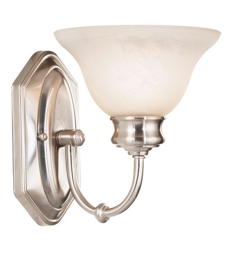 Kenroy Lighting Winterton 1 Light Sconce in Brushed Steel   10501BS photo