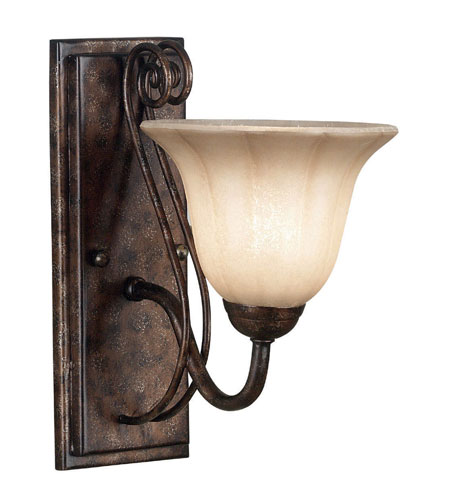 Kenroy Lighting Wallis 1 Light Sconce in Burnished Bronze   10541BB photo