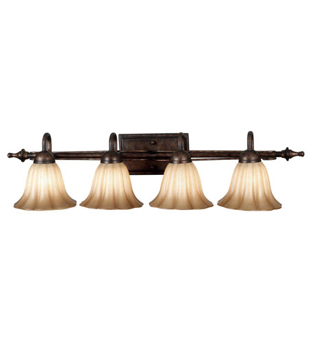 Kenroy Lighting Wallis 4 Light Vanity in Burnished Bronze  10544BB photo
