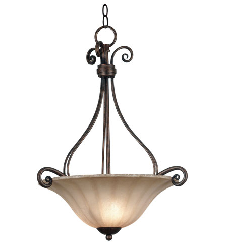 Kenroy Lighting Wallis 3 Light Pendant in Burnished Bronze   10553BB photo