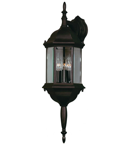 Kenroy Lighting 16267BL Custom Fit 3 Light 26 inch Black Wall Lantern photo