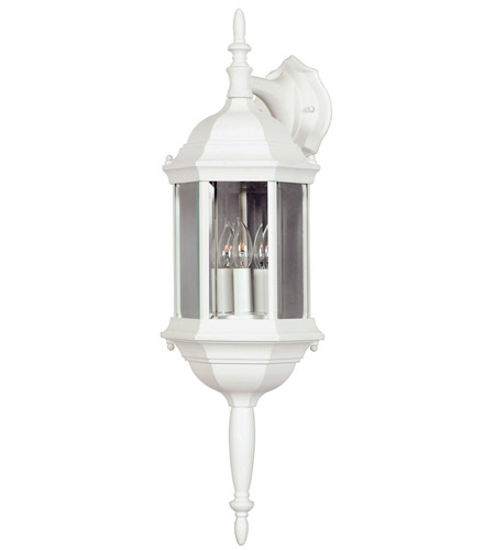 Kenroy Lighting Custom Fit 3 Light Outdoor Wall Lantern in White   16267WH photo