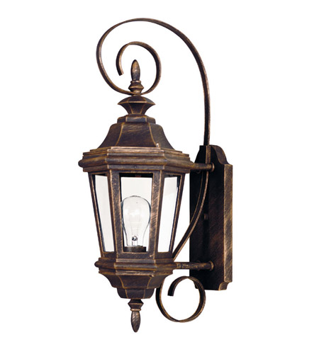 Kenroy Lighting 16312AP Estate 1 Light 22 inch Antique Patina Wall Lantern photo
