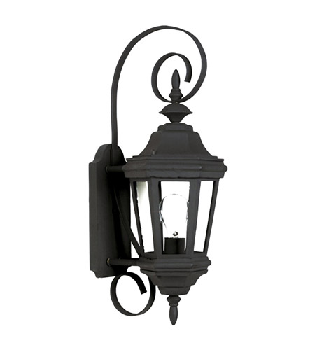 Kenroy Lighting Estate 1 Light Outdoor Wall Lantern in Black   16312BL photo