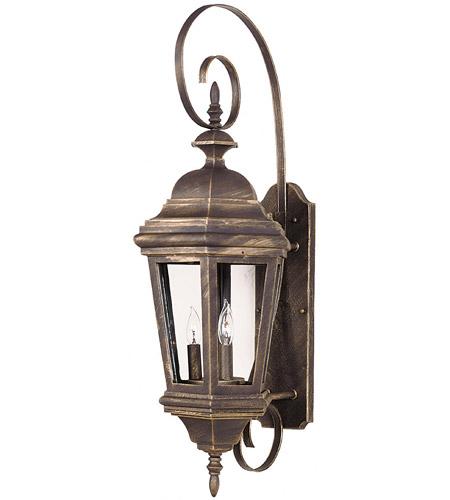 Kenroy Lighting Estate 3 Light Outdoor Wall Lantern in Antique Patina   16314AP photo