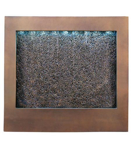 Kenroy Lighting Central Square 27 Light Wall Fountain in Bronze  with Textured Face  19998 photo