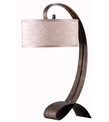 Kenroy Lighting Remy 1 Light Table Lamp in Smoked Bronze   20090SMB photo