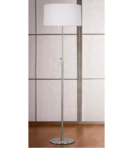 Kenroy Lighting 20111BS Propel 68 inch 150 watt Brushed Steel Floor Lamp Portable Light, Adjustable alternative photo thumbnail