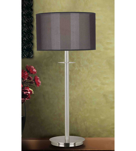 Kenroy Lighting Marlowe 1 Light Table Lamp in Brushed Steel   20114BS photo