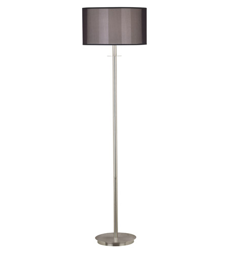 Kenroy Lighting Marlowe 1 Light Floor Lamp in Brushed Steel   20115BS photo