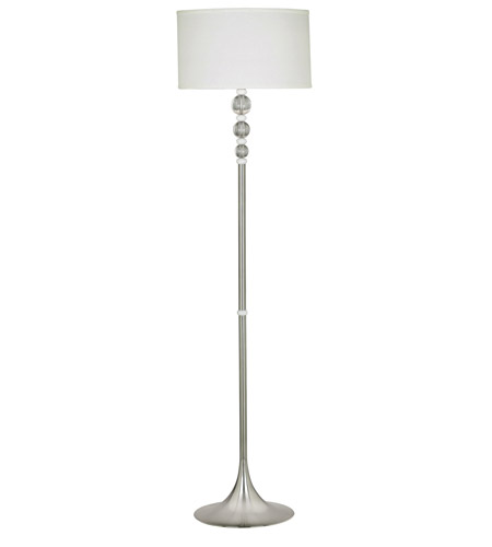 Kenroy Lighting Luella 1 Light Floor Lamp in Brushed Steel  White & Clear Acrylic Accent  20119BS photo