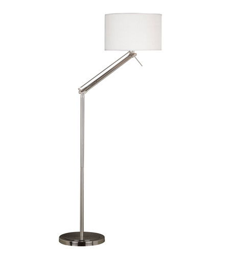 Kenroy Lighting 20123BS Hydra 63 inch 150 watt Brushed Steel Floor Lamp Portable Light in White, Adjustable photo