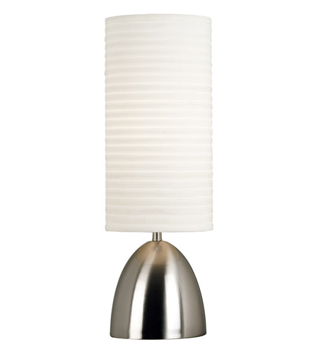 Kenroy Lighting Bandeau 1 Light Table Lamp in Brushed Steel 20200BS photo