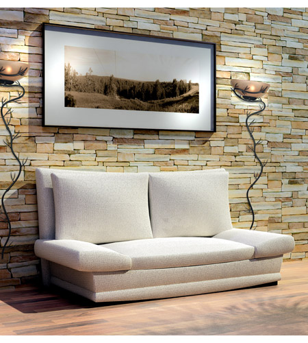 Kenroy Lighting Twigs 1 Light Wallchiere in Bronze   20625BRZ photo
