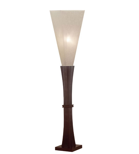 Kenroy Lighting Della 1 Light Floorchiere in Mahogany   20656MHY photo