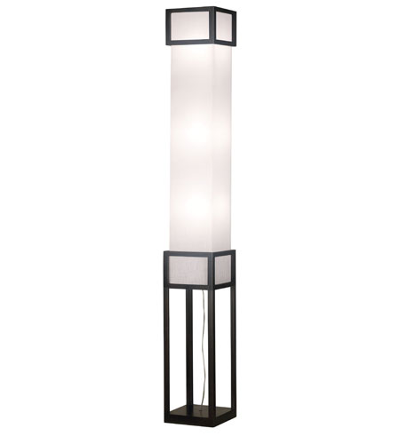 Kenroy Lighting Tower 3 Light Floorchiere in Mahogany   20699MHY photo