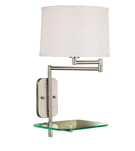 Kenroy Lighting Tabula 1 Light Swing Arm Wall Lamp in Brushed Steel   20947BS photo
