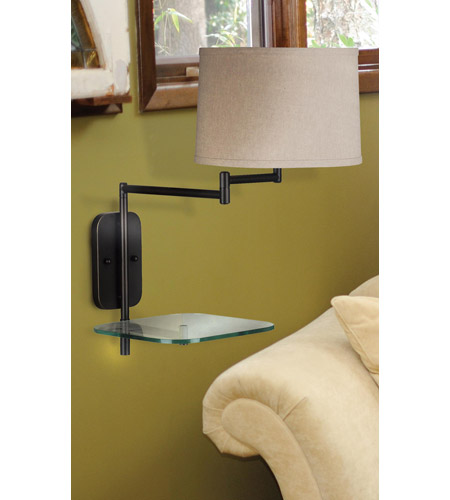 Kenroy Lighting Tabula 1 Light Swing Arm Wall Lamp in Oil Rubbed Bronze   20947ORB photo