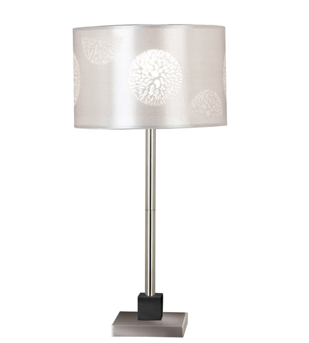 Kenroy Lighting Cordova 1 Light Table Lamp in Brushed Steel  with Graphite Accent  20962BS photo