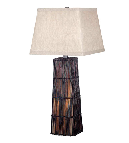 Kenroy Lighting Wakefield 1 Light Table Lamp in Dark Rattan   20977DRT photo
