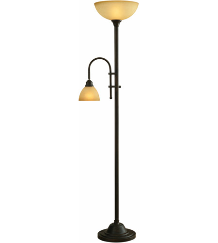 Kenroy Lighting Callahan 1 Light Torchiere in Bronze Heritage   20995BH photo