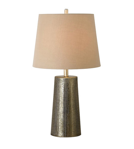 Kenroy Lighting Templeton 1 Light Table Lamp in Gold Flecked Glass   21043GF photo