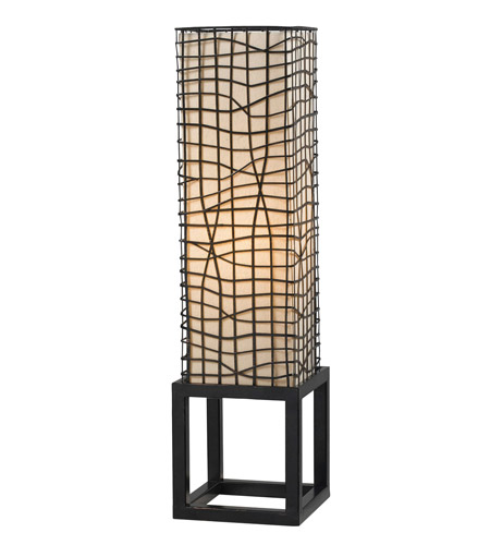 Kenroy Lighting Fortress 1 Light Table Lamp in Bronze   21068BRZ photo