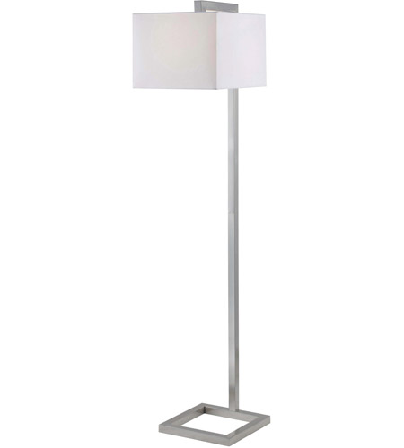 Kenroy Lighting 4 Square 1 Light Floor Lamp in Brushed Steel   21080BS photo