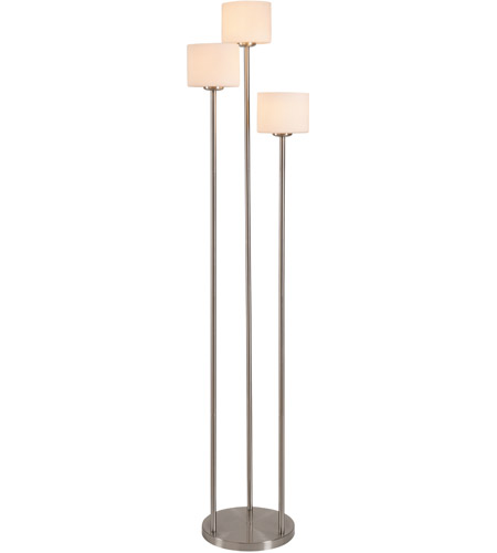 Kenroy Lighting 21377BS Matrielle 72 inch 100 watt Brushed Steel Torchiere Portable Light in White Frosted Glass photo