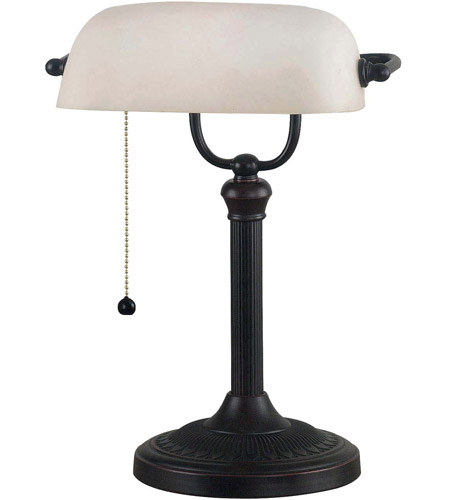 Kenroy Lighting Amherst 1 Light Banker Lamp in Oil Rubbed Bronze   21394ORB photo