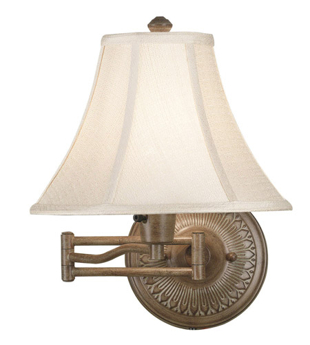 Kenroy Lighting Amherst 1 Light Swing Arm Wall Lamp in Nutmeg   21395NUT photo
