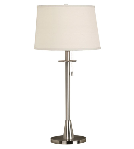 Kenroy Lighting Rush 1 Light Table Lamp in Brushed Steel   21446BS photo