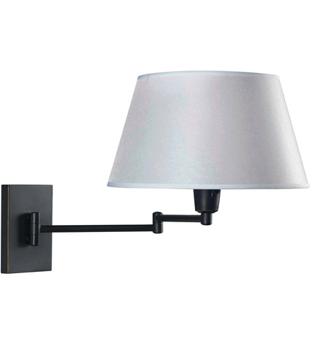 Kenroy Lighting 30100ORB Simplicity 26 inch 150 watt Oil Rubbed Bronze Wall Swing Arm Lamp Wall Light in White photo