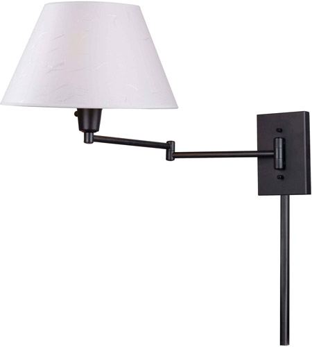 Kenroy Lighting Simplicity 1 Light Swing Arm Wall Lamp in Bronze   30110BRZ photo