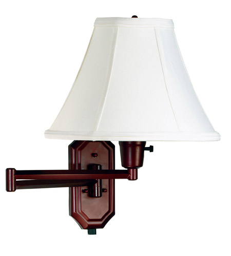 Kenroy Lighting Nathaniel 1 Light Swing Arm Wall Lamp in Bronze   30130BRZ photo