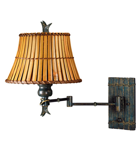 Kenroy Lighting Kwai 1 Light Swing Arm Wall Lamp in Bronze Heritage   30454BH photo