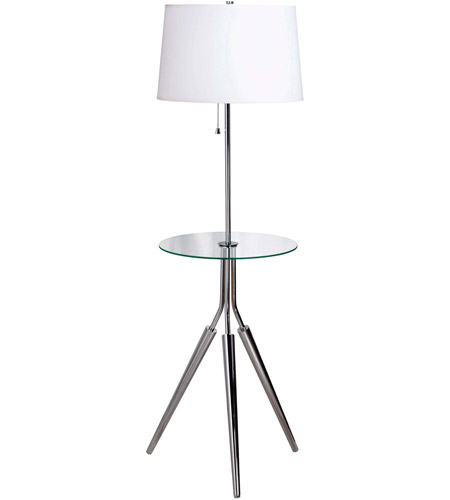 Kenroy Lighting Rosie 1 Light Floor Lamp in Chrome   30510CH photo