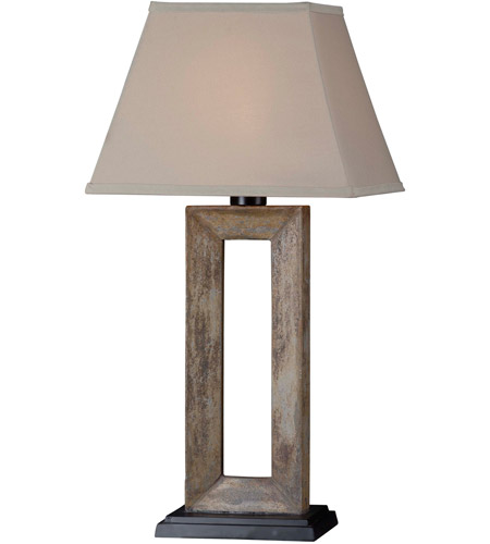 Kenroy Lighting Egress 1 Light Outdoor Table Lamp in Natural Slate   30515SL photo