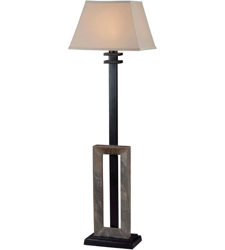 Kenroy Lighting Egress 1 Light Outdoor Floor Lamp in Natural Slate   30516SL photo